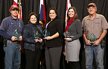 Staff Excellence in University Service Award recipients