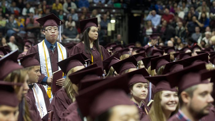 President Smart shares wisdom with new graduates