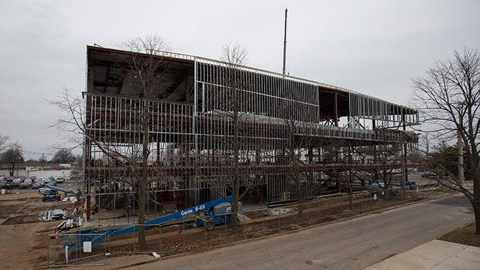 Occupational therapy building under construction