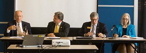 Clif Smart at MDHE meeting