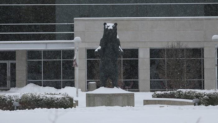 PSU Bear snow