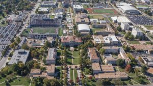 Aerial photo of Missouri State University