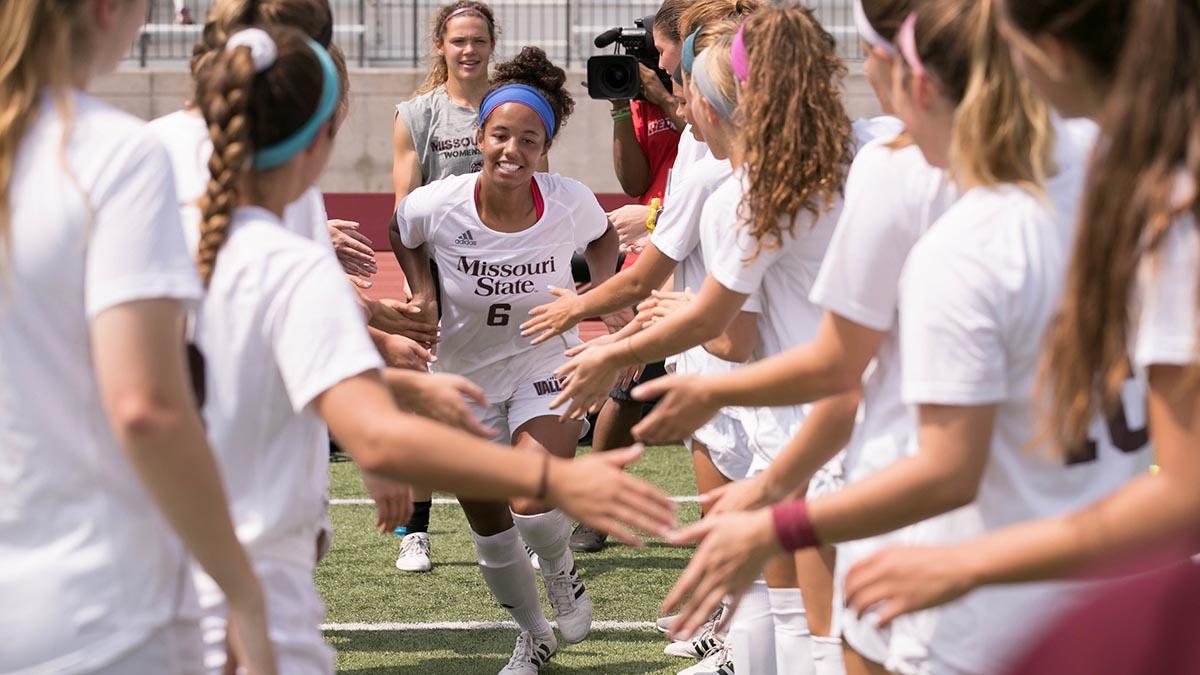 Women's soccer line up