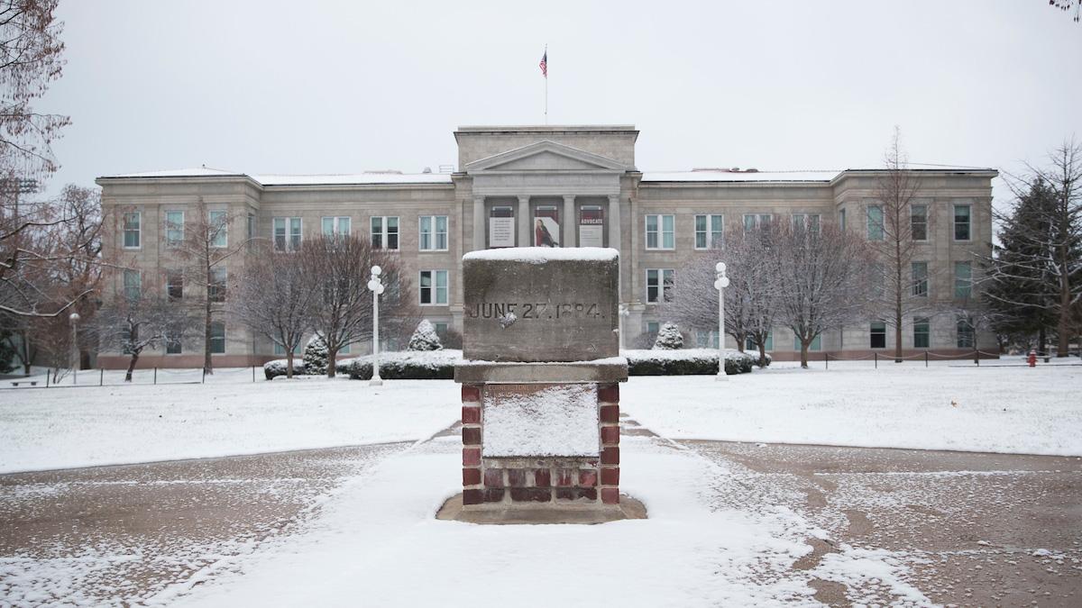 Snow on Carrington