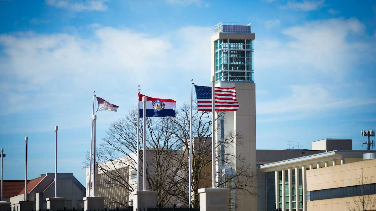Flags flying at Missouri State University