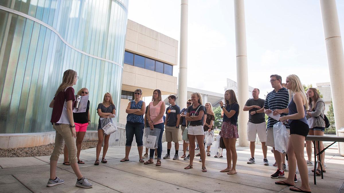 Students tour campus