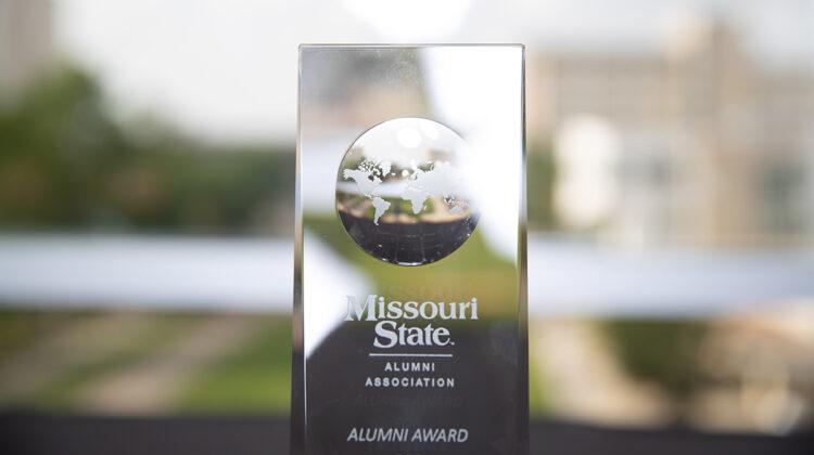 Alumni Award with blurred out horizon