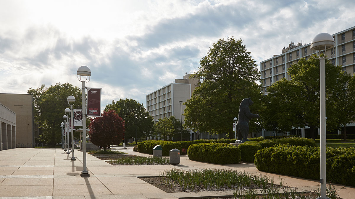 North Mall in front of PSU and residence halls
