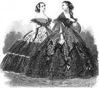 women in 19th centure dresses