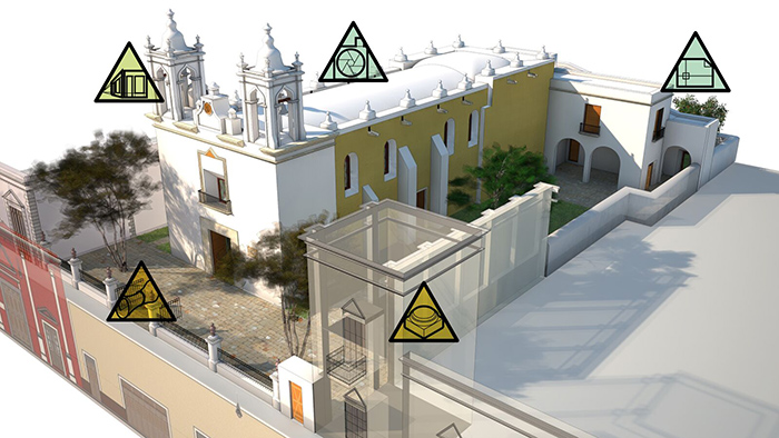 17th century Mexican chapel in VR rendering