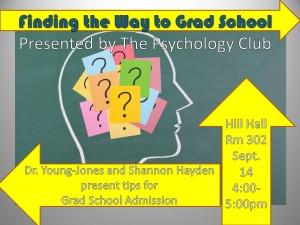 Psychology Club Presents: Tips for Grad School Admission, September