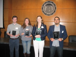 Erick Briggs announced as 1st Place Winner of the 3-Minute Thesis Competition