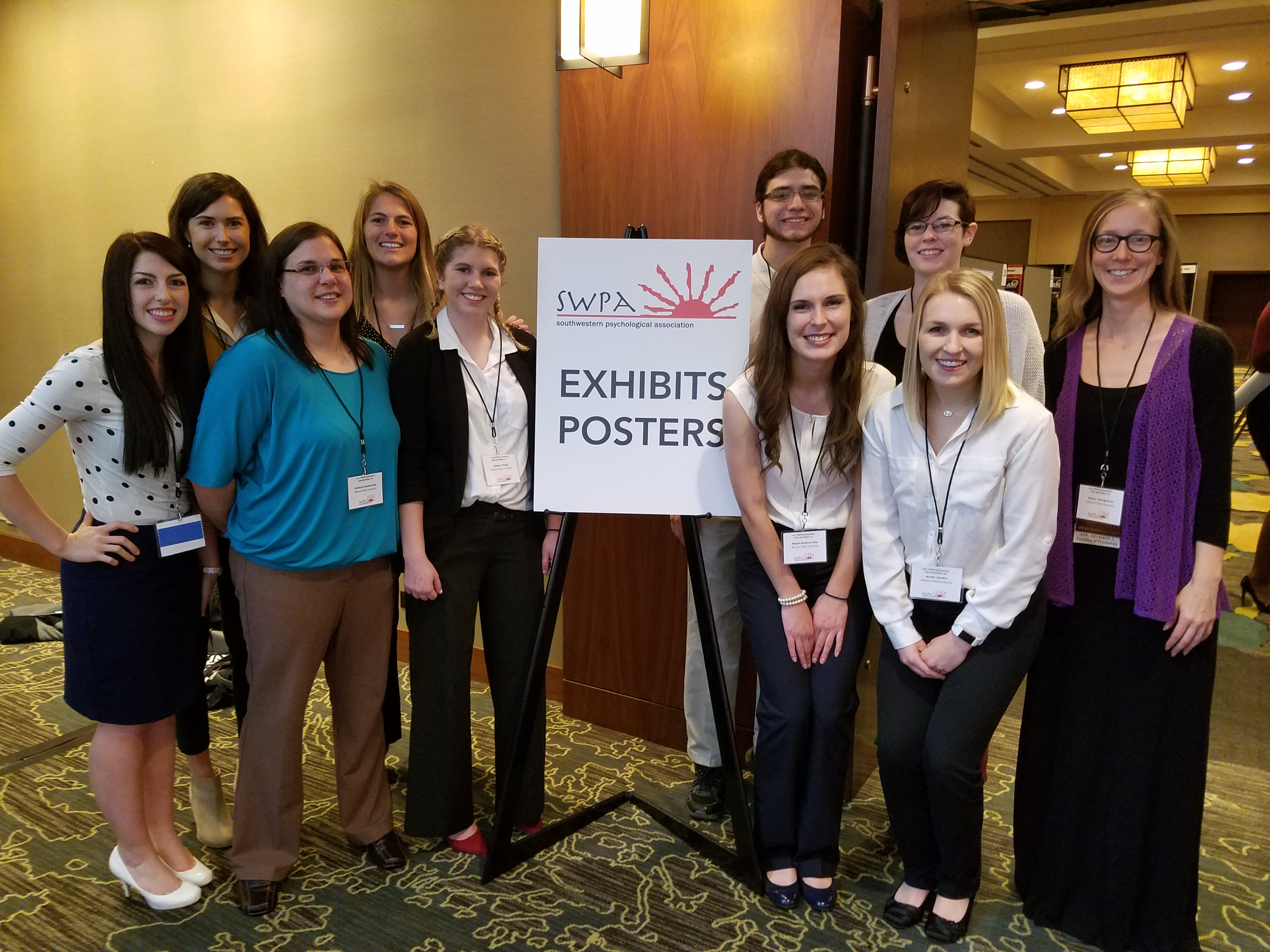 Psychology students present research at SWPA Conference