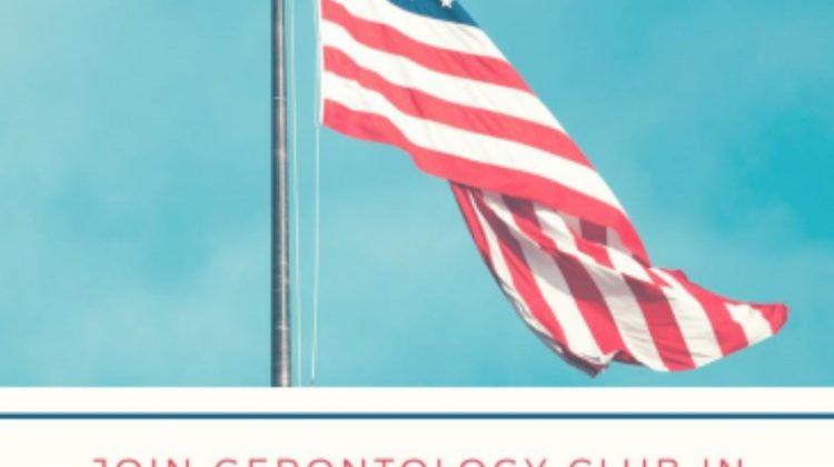 Gerontology Club: September 11, 2017 1:30-2:30 pm PUMM 206