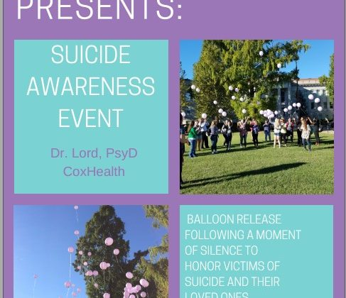 Psychology Club Presents: Suicide Awareness Event, September 25, 2017 4-5:00 pm PSU 308 A/B