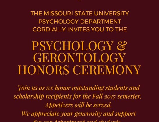 Psychology and Gerontology Honors Reception 12.1.17