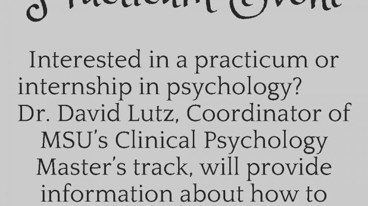 Psychology Club Presents: Practicum Event