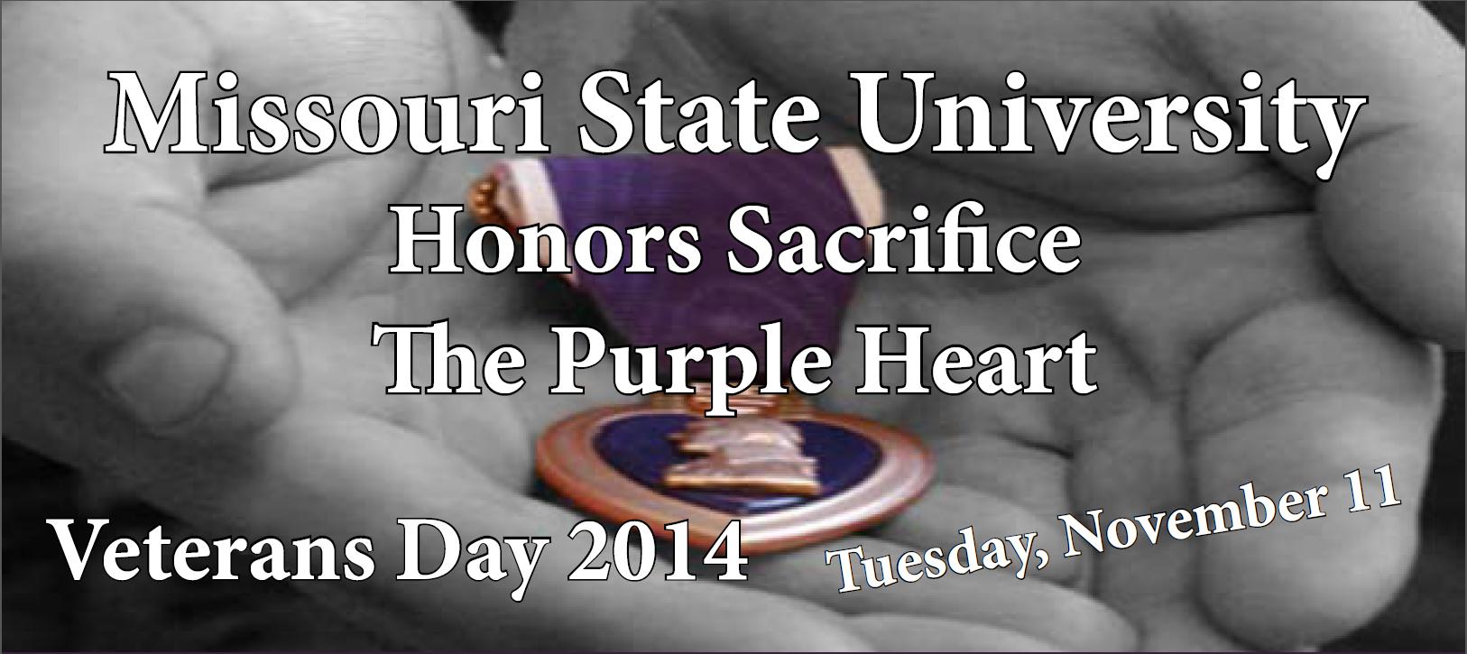 MSU Honors Sacrifice The Purple Heart