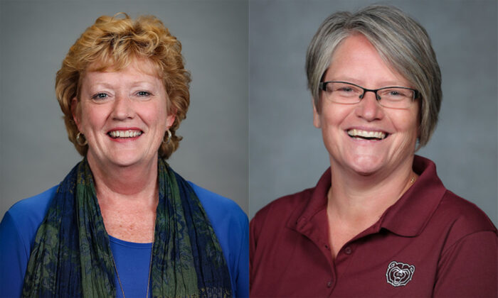 headshots of the two 2020 faculty awardees