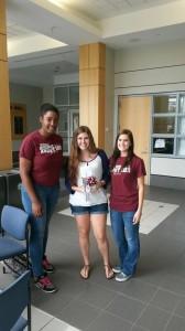 (From Left) Jasmine Carter, Social Chair, Ali Jemes, and Caitlin Harris, Secretary
