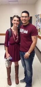 Sarah Henggeler and Brandon Alejo-Morgan, Recruitment Chair