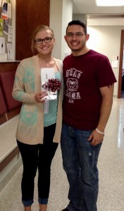 Tylyn Anders and Brandon Alejo-Morgan, recruitment chair