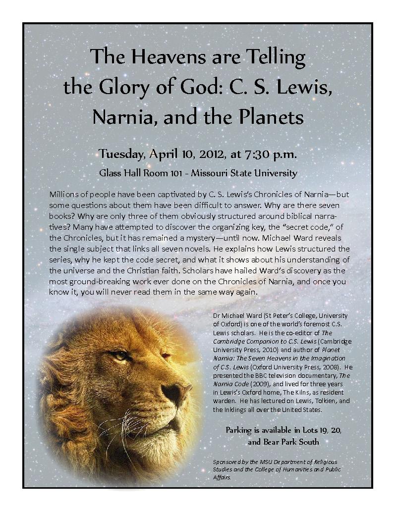 C. S. Lewis Scholar Coming to MSU!