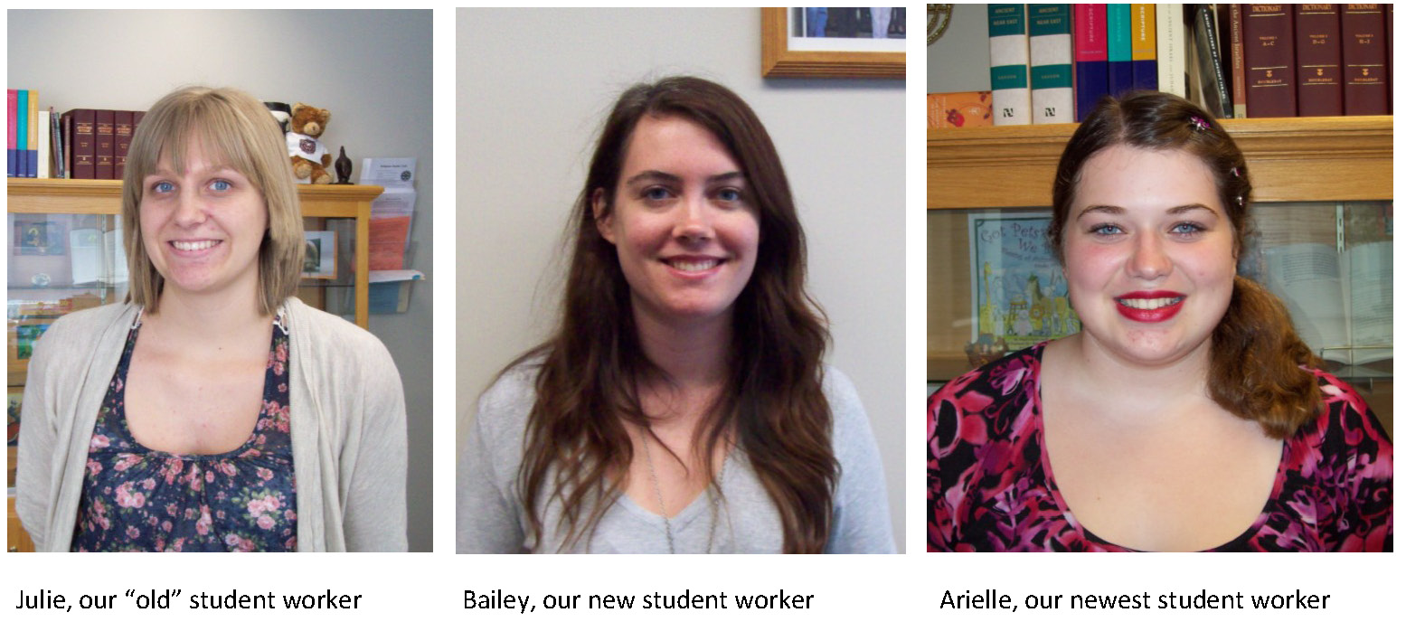 Our New Student Workers for Fall 2012