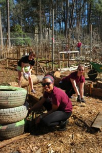 Religious Studies major Emma Donovan and other MSU Students on their Service Learning Spring Break experience in Clarkston, GA