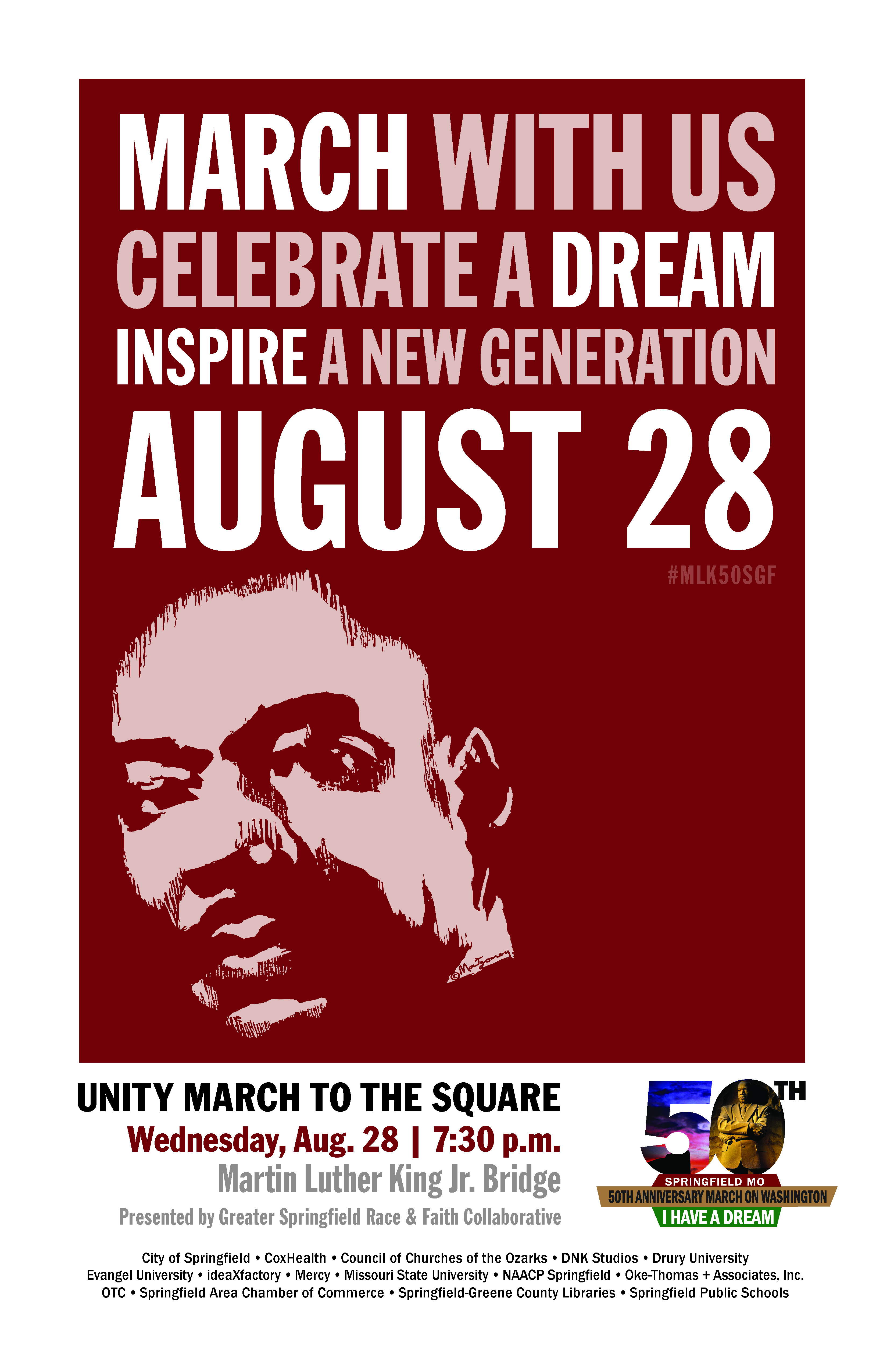 MLK Unity March Wednesday!