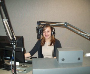 "Samantha, our KSMU ""Religion Beat"" intern hard at work!"