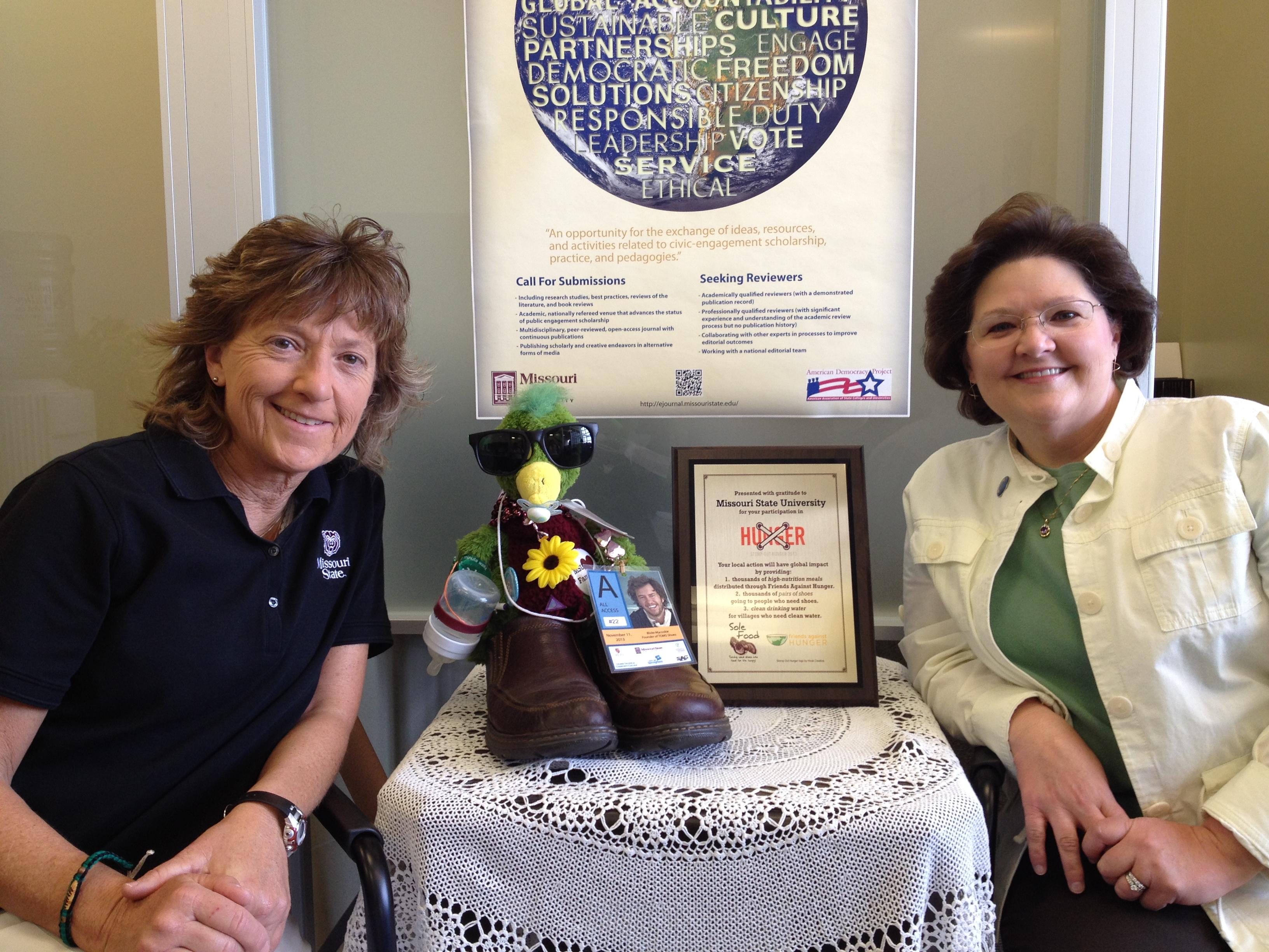 Lora Hobbs and Mary Ann Wood Win Huey Award