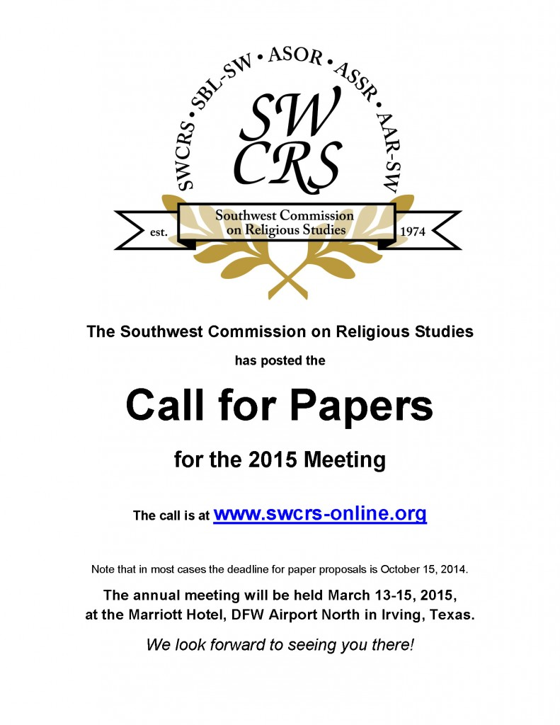 The Southwest Commission on Religious Studies SP15 conference