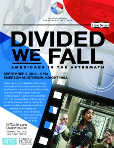 First in the Fall 2014 Film Series at the Danforth Center on Religion and Politics at Washington University, St. Louis, MO
