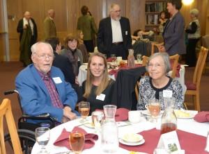 From left, MSU Religious Studies Professor Emeritus Dr. LaMoine DeVries; Religious Studies major and scholarship recipient, Ms. Emma Donovan; and Mrs. Mary Ann DeVries.