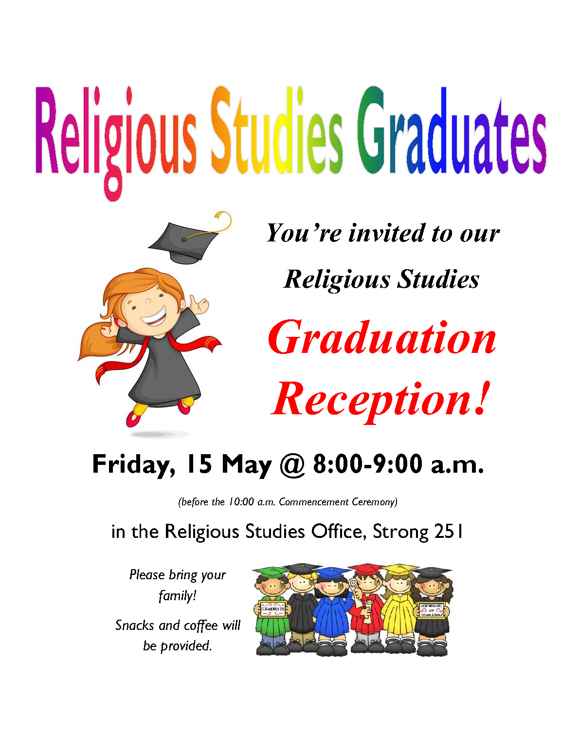 Finals and Graduation This Week!
