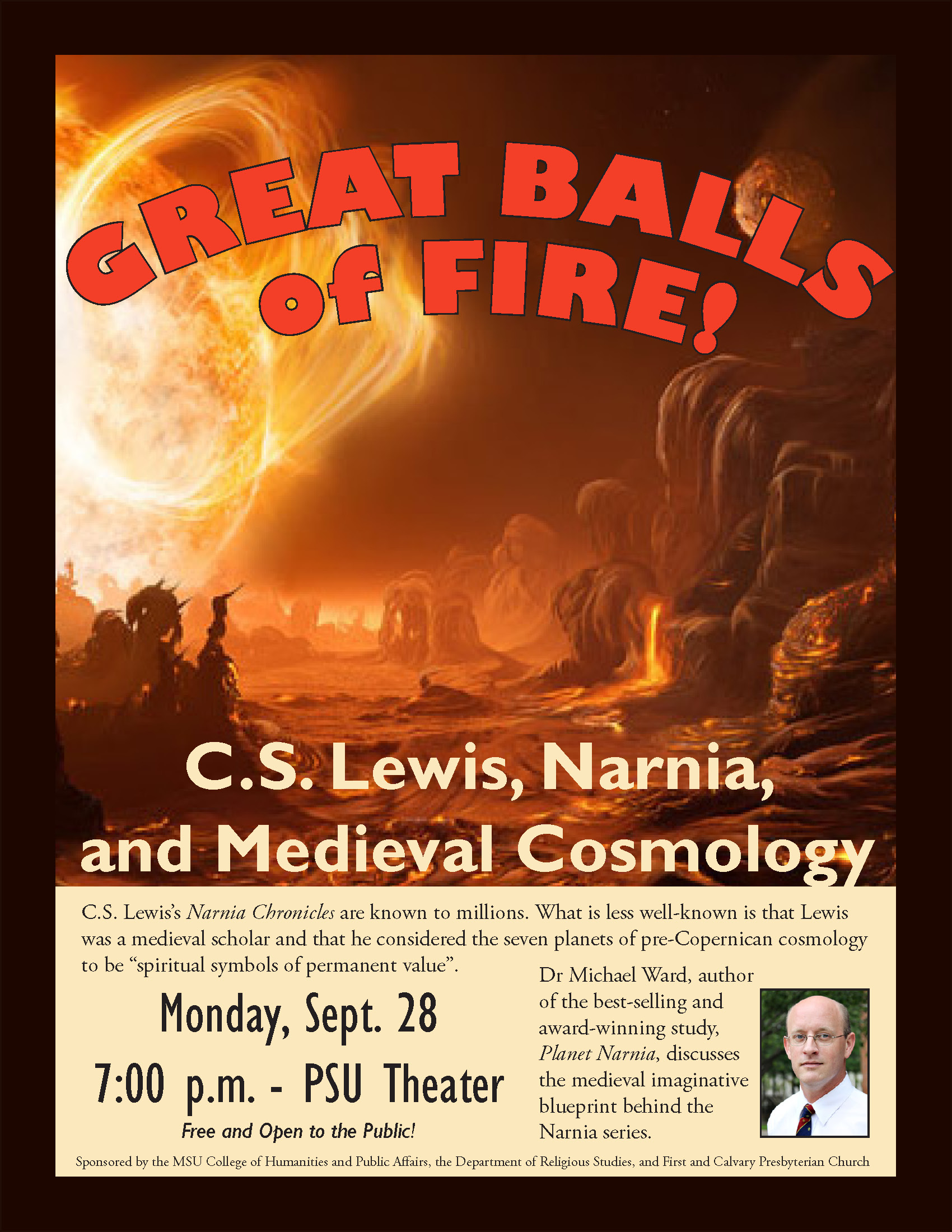 Great Balls of Fire! Special Guest Dr. Michael Ward in September