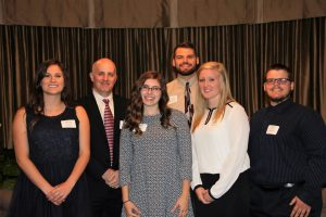 Religious Studies department head, Dr. Stephen Berkwitz (second from left), surrounded by REL scholarship winners