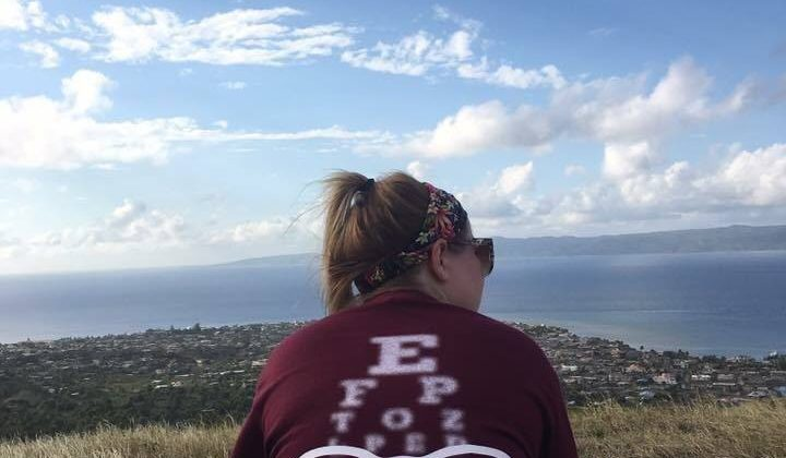 "photo of MSU student in Haiti during ""Seeing More Clearly in Haiti"" study away trip 2018"