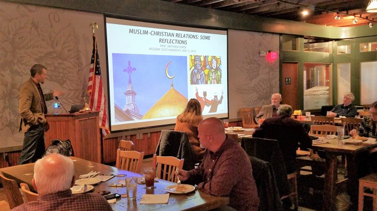 photo of Dr. Matt Kuiper presenting at a recent Kiwanis Club meeting in Springfield