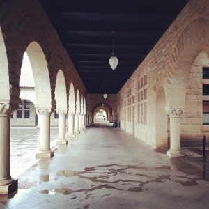 Photo of colonnade on the Stanford campus