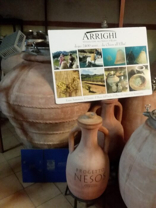 Clay amphorae from the Arrighi vineyards