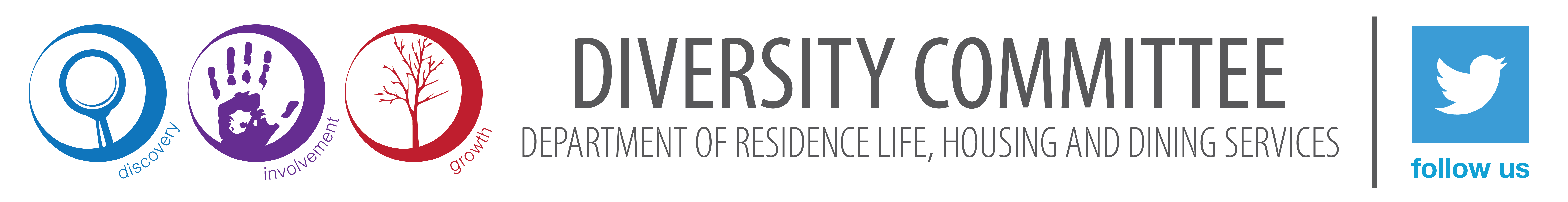 Diversity Committee Logo with embedded Twitter