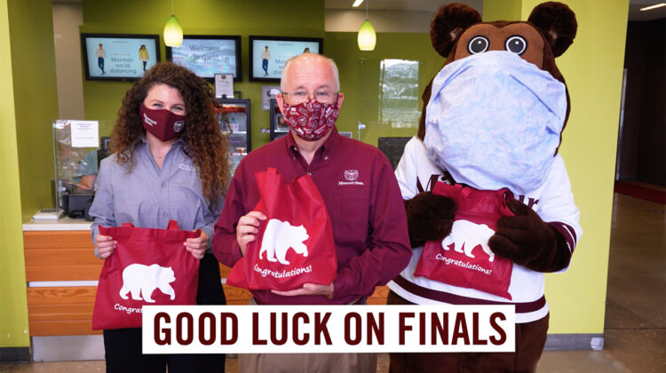 President Smart wishes students good luck on finals.