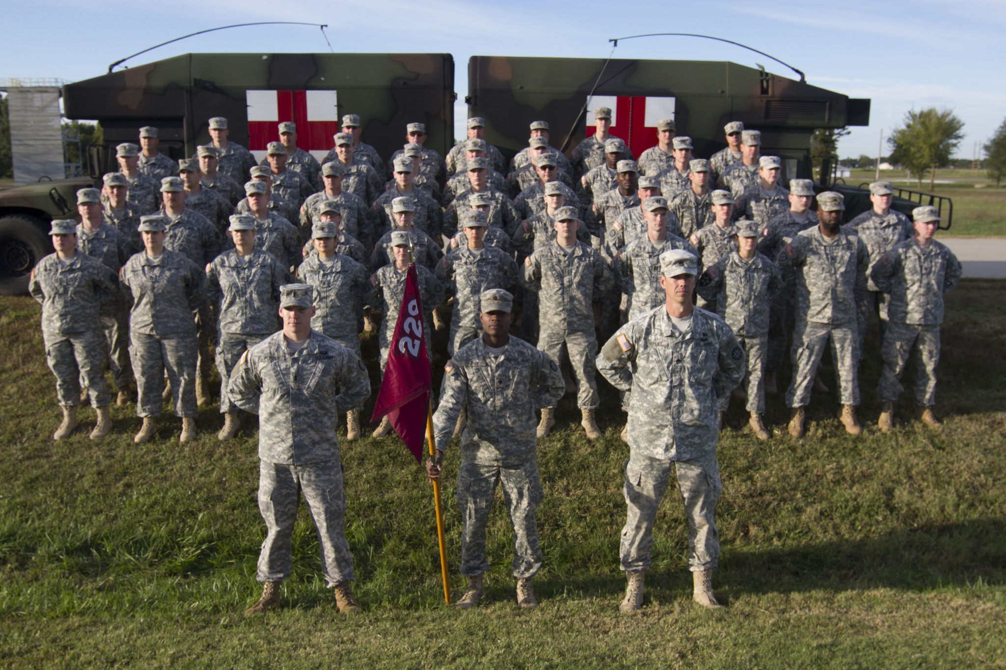 Photo of the Missouri National Guard 7th CST in formation.