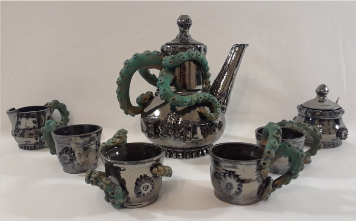 Steampunk Tea Set by Joshua Heimsoth