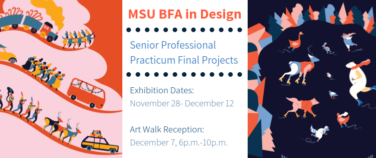 MSU BFA Design Show banner