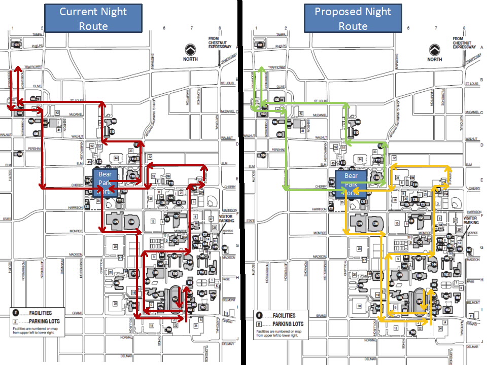 Split Night Route, for The Standard