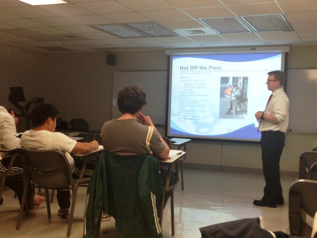 Dr. Jeremy Reed Speaks to ATC 425 Contemporary Topics Class