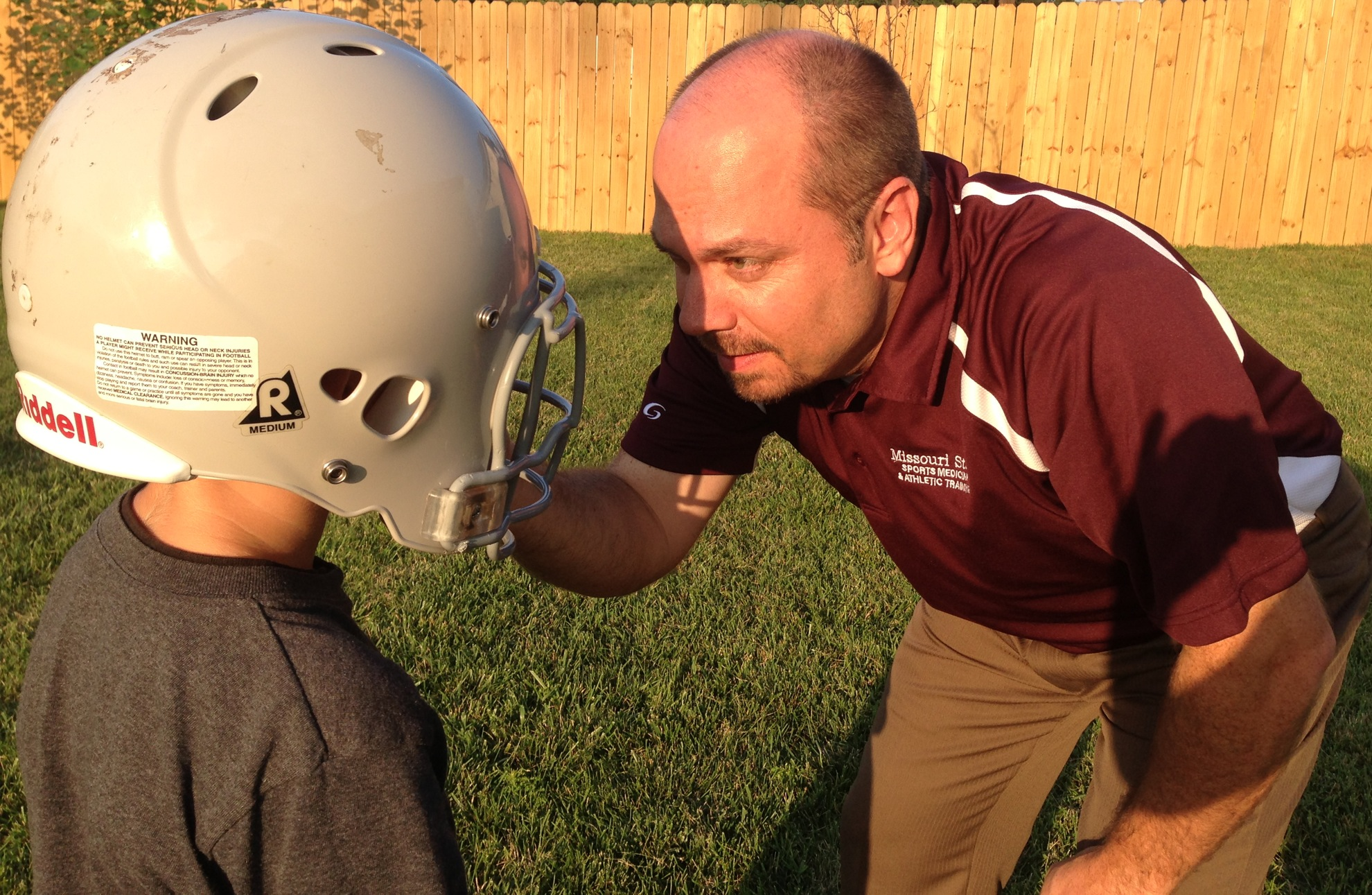 SMAT Participation in Mighty Mites Youth Football Equipment Fitting